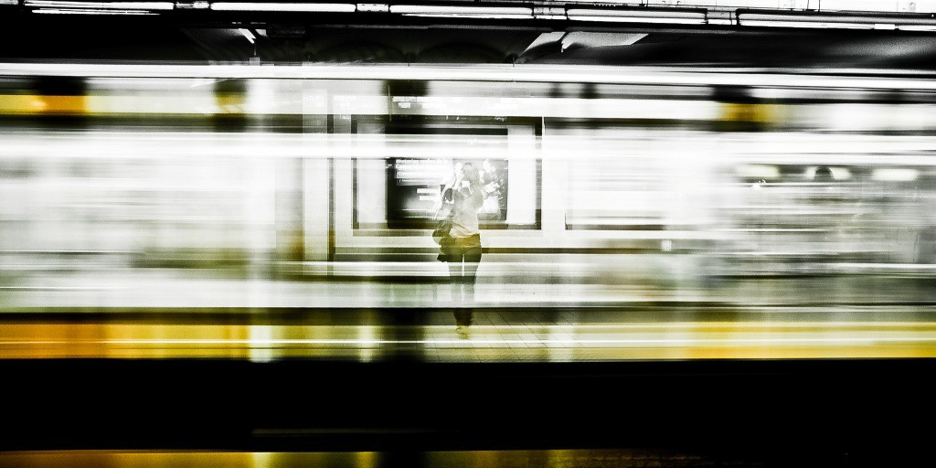 Naked on the Train - Flash Fiction by Tom O'Brien