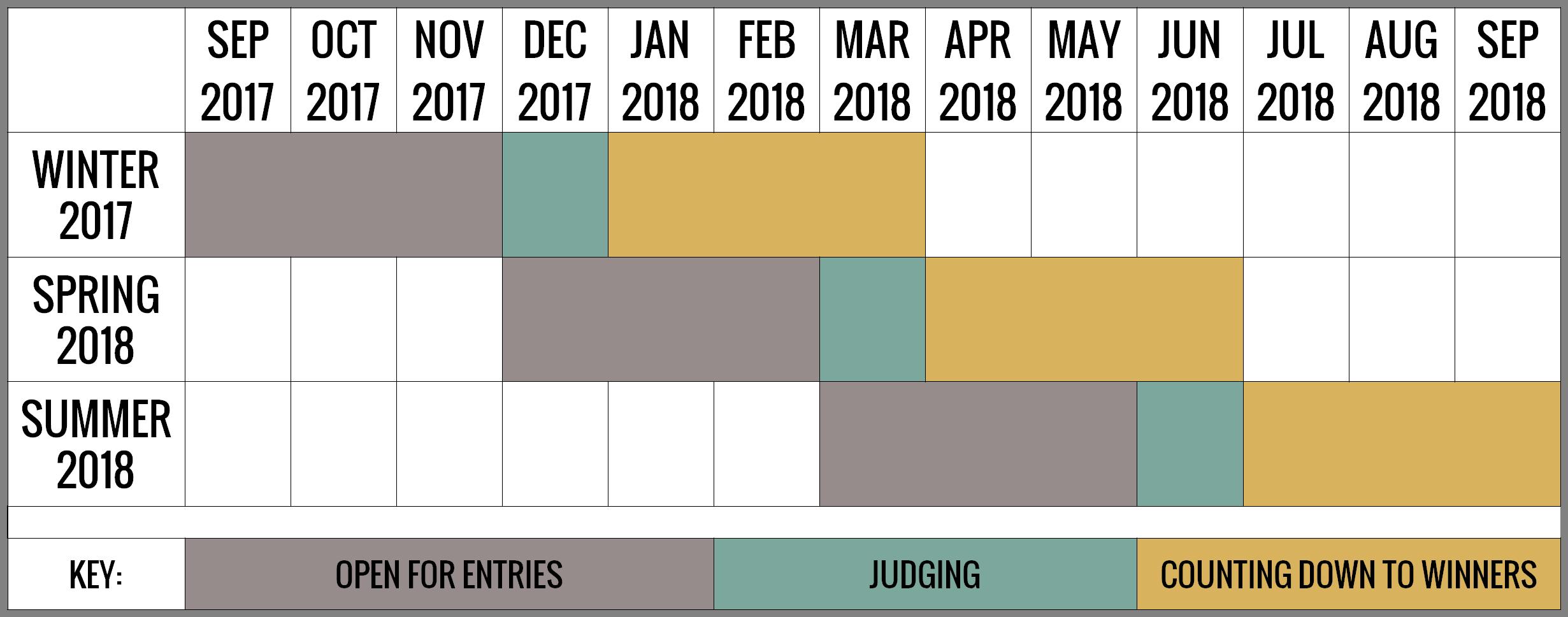 Flash Fiction Competition Schedule - Reflex Fiction - Winter 2017